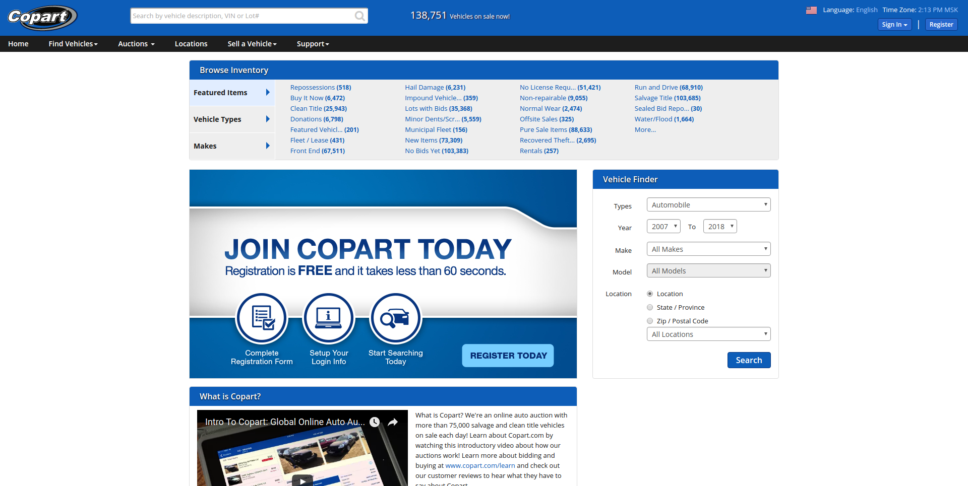 Copart company profile - Office locations, Competitors, Revenue,  Financials, Employees, Key People, Subsidiaries, News | Craft.co